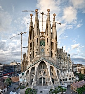 The Sagrada Familia basilica in Barcelona